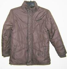 TIMBERLAND BROWN QUILTED PUFFER NYLON POLAR FLEECE JACKET YOUTH LARGE 16/18 EUC!