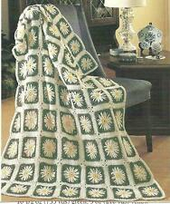 *Daisy Square Afghan crochet PATTERN INSTRUCTIONS