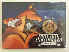 2012 $1 KANGAROO ANIMAL ATHLETES (BOXING) COIN ON CARD