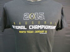 2015 College Football Inaugural national championship T Shirt Texas New OS sz S