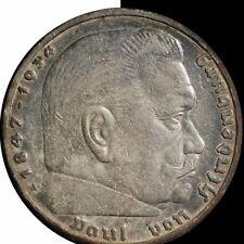 1938 Germany 5 Mark Silver