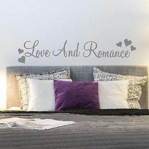 Love & Romance Wall Quote Sticker Words Decal Bedroom Wedding Gift  | WQB42