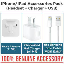 New Genuine iPhone 7 A1748 Earphones + Charger + USB iPad iPhone 6S 6 5S 5