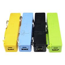 USB 18650 Batería Power Bank Cargador Externo Caso Pack Caja Azul/Verde/Amarillo