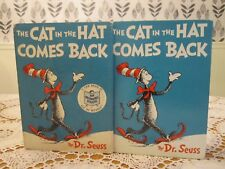 The CAT in the HAT COMES BACK Seuss Suess 1958 HC/DJ Early Printing