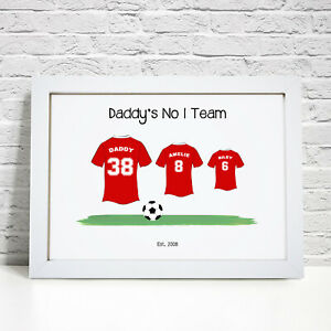 Personalised Football Print Family Gift Birthday Fathers Day Gifts For Dad Daddy