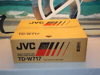 JVC TD-W717 Stereo Double Cassette Tape Deck Player / Recorder NEW In Box