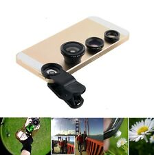 3 in 1 CAMERA LENS KIT WIDE ANGLE MICRO FISH EYE LENS for SAMSUNG GALAXY S4 S5