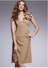 Teatro Knee Length Polyester V Neck Dresses for Women