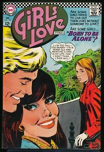 GIRLS' LOVE STORIES No. 125 1967 DC Romance Comic Book BORN TO BE ALONE! 6.5 FN+