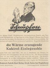 Y6153 KUKIROL Einlegesohle - Pubblicità d'epoca - 1925 Old advertising