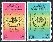 SELLOS TEMA MEDICINA. QATAR 1988 554/55 OMS 2v.
