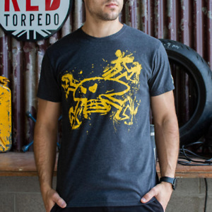 Red Torpedo Guy Martin Rough n Ready (Mens) Anthracite T-Shirt