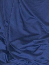 tissu maille jersey milano saphir bleu nuit  épais en 160 cm de large au mètre