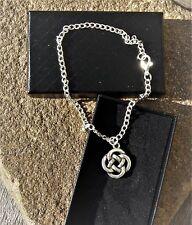 Celtic Knot Anklet Ankle Bracelet Handmade Silver Plated Ladies/Girls/Boys