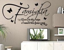 Adesivi murali frasi famiglia amore wall stickers decorazione per parete da muro