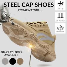 Heavy Duty Men's Work Boots Safety Shoe Steel Toe Cap Sneakers Lightweight Shoes