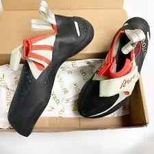 BUTORA Unisex Acro Rock/Indoor Climbing Shoes Orange/Lime Wide Fit