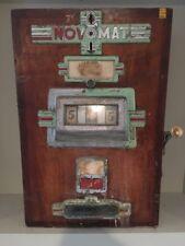 Antique Novomat German Slot Machine / Wooden Case / Parts Or Repair