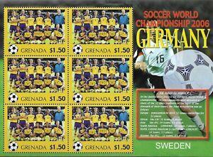 "GRENADA - 2006 MNH ""FIFA Soccer World Cup - SWEDEN"" Souvenir Sheet (3/32) !!"