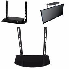 Glass Shelf TV Wall Mount Bracket Component Above Below Under Cable Box DVR DVD