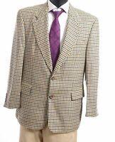 HUGO BOSS Sakko Jacket Dionysos Gr.50 beige Hahnentritt Einreiher 2-Knopf -S418