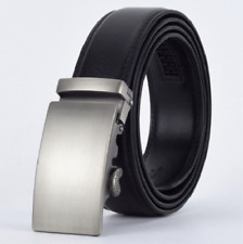 *NEW* Mens Automatic Buckle Leather luxury Belts no Holes