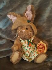 Original Brass Button Collectables Flora The Hare Serenity Stuffed Rabbit Bunny