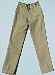 Boys Khaki Adjustable Waist Double Knee Pants Authentic Galaxy School Uniform