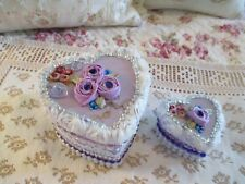 Set of Two - Heart Faux Wedding Cake Boxes