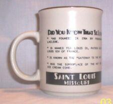"""Kitchen #433 =0.1300 Ceramic """"Saint Louis, Missouri""""  Brown Mug"""