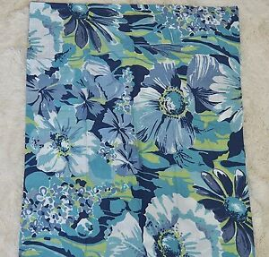 Pottery Barn Standard Pillow Sham Blue/Green Floral Print 100% Cotton