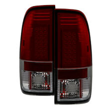 Ford 97-03 F150 99-07 F250/350/450/550 SuperDuty Red Smoke LED Tail Lights Lamp