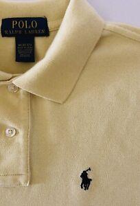 RALPH LAUREN Boy's Polo Shirt Yellow Size: (M) 10-12