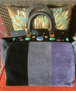 So Chic!!!***Tory Burch Attersee Tote Bag Handbag  NWOT Blue/Navy Suede
