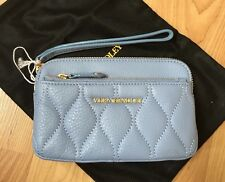Vera Bradley ~ Quilted Sophie Wristlet ~ Chambray Sycamore Leather NEW GORGEOUS