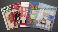 Lot Of 5 Craft - Leisure Arts, Burda & Hardanger Embroidery/Cross Stitch Books