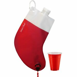 Santa Flask Beverage Dispenser Funny Holiday Gag Gifts for Christmas Party