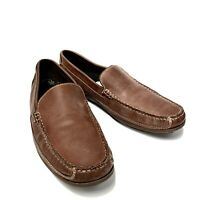Clarks Brown Leather Slip On Casual Moc Toe Driving Loafers Shoes Men's 11 M