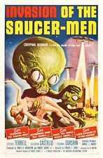 Invasion de soucoupe Hommes Poster 01 métal signe A4 12x8 aluminium