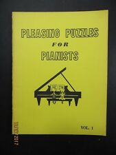Pleasing Puzzles for Pianists West-Farr 1976 Book Softcover Vintage