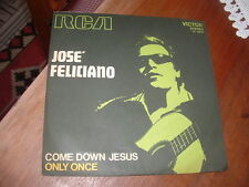 """JOSE FELICIANO """" COME DOWN JESUS - ONLY ONCE """" ITALY'71"""
