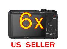 6x Sony CyberShot DSC-HX30V Clear LCD Screen Protector Guard Shield Film