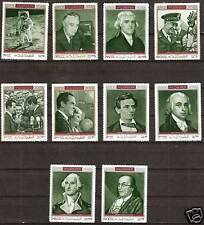FUJEIRA #M: 485A-94A MHN HISTORY'S FAMOUS AMERICANS