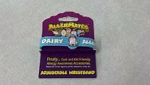 DAIRY  ALLERGY Child Adjustable Bracelet Wristband Medical Alert