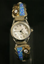 24ct Gold Plated Sterling Silver Ladies Watch Cubic Zircona -Great Present Gift