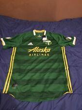 MLS Portland Timbers Alaska Airlines Adidas CLIMACOOL Jersey Men's Sz Medium