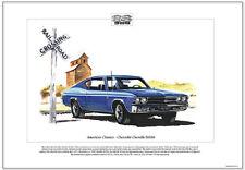 American Classics - CHEVROLET CHEVELLE SS396 Art Print - US Personal Luxury Car