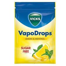Vicks VapoDrops Lemon & Menthol Sugar Free 72g 1 2 3 6 12 Packs