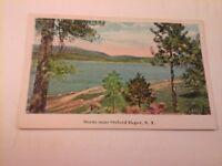 Vtg 1915-1930 White Border Postcard SCENE Near OXFORD DEPOT, N.Y. (1935)